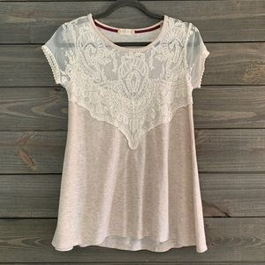 Altar'd State T-Shirt with Lace